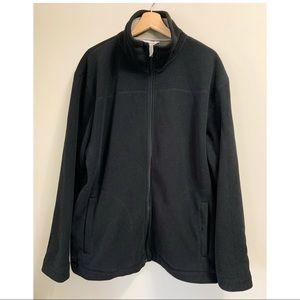 Men's Midtown Black Piped Fleece Jacket | …